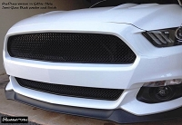Ford Mustang S550 (2015-2017) One-Chamber Version Upper and Lower RaceMesh Grilles SET - In Glacier Style weave